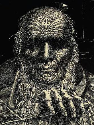 """Tohunga - """"Matapo, a blind tohunga"""" in Te Tohunga by Wilhelm Dittmer, 1907"""