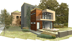 Green building - Blu Homes mkSolaire, a green building designed by Michelle Kaufmann.
