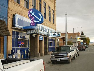 Twin Bridges, Montana - Blue Anchor Cafe, Main Street, Twin Bridges, MT