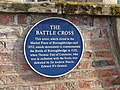 Blue plaque, the Battle Cross, Aldborough, North Yorkshire (7th August 2014).jpg
