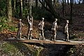Bob Walters' stainless steel people at Arlington Court - geograph.org.uk - 2244736.jpg
