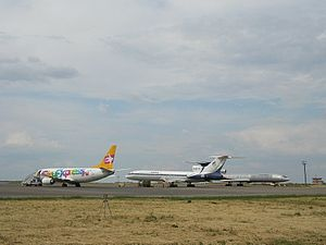Boeing 737-300 of SkyExpress, Tu-154 of Gazpromavia & Continent Air in Belgorod.jpg