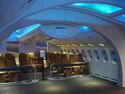 concept de dmonstration dintrieur du boeing 787