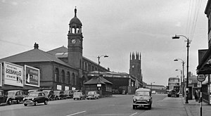 Bolton Interchange - The former station buildings (demolished in the 1980s), seen from the Bradshawgate end of Trinity Street