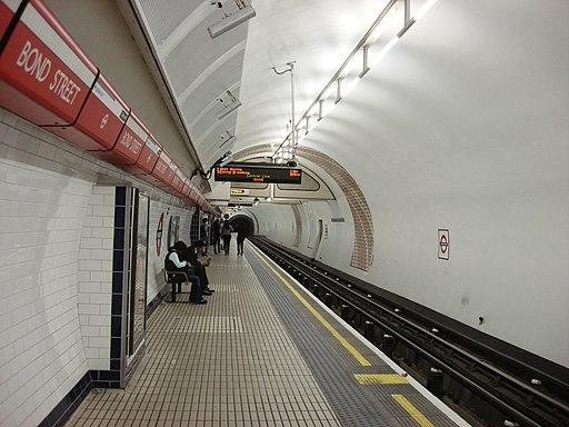 Bond Street Central line Westbound