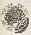 Book Illustration, Perspectivae pictorum atque architectorum, Perspective drawing of dome interior, plate 91, 1719 (CH 68766171).jpg