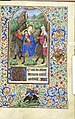Book of hours for the use of Rome - Morgan Lib m282 f77r (Flight into Egypt).jpg