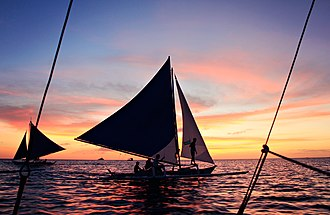 Austronesian peoples - Outrigger canoes and crab claw sails are hallmarks of Austronesian maritime culture