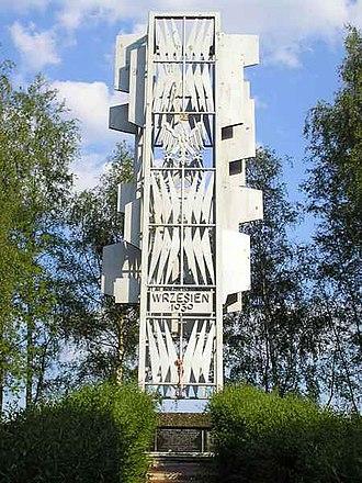 Battle of Borowa Góra - Monument erected to commemorate the battle