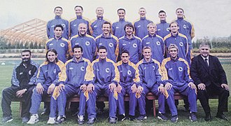 Bosnia and Herzegovina national football team - Bosnia-Herzegovina squad in March 2002 under manager Blaž Slišković.