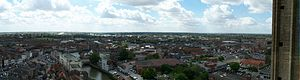 St Botolph's Church, Boston - Panorama of Boston taken from the Tower