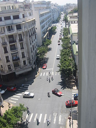 2003 Casablanca bombings - Image: Boulevard de Paris, Casablanca