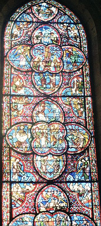 Bourges Cathedral Stained Glass And Sophia