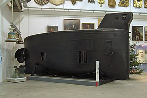 The Brandtaucher submarine in Dresden, Germany