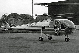 Brantly 305 - Brantly 305 at Oxford Airport UK in 1966
