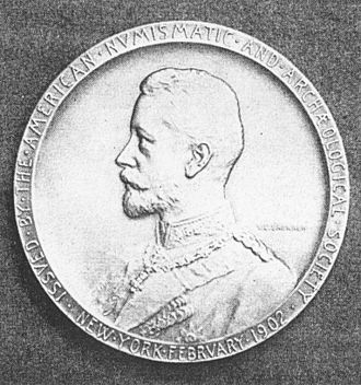 Prince Henry of Prussia (1862–1929) - Medallion designed by Victor David Brenner for Prince Henry's 1902 visit to the U.S.