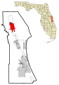 Brevard County Florida Incorporated and Unincorporated areas Titusville Highlighted.svg