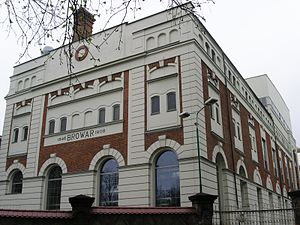 Okocim Brewery - The brewery building