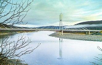 Utsjoki - Image: Bridge at Utsjoki between Finland and Norway