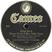 Lou Goldner and his Orchestra - Bring Back Those Rock-a-Bye Baby Days, 1925