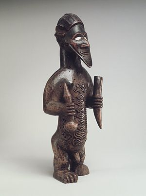 Bembe people - Male Figure (Bimbi), from the collection of the Brooklyn Museum