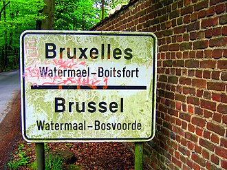 Francization of Brussels - French and Dutch are both official languages in the Brussels-Capital Region