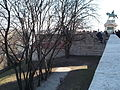 Budapest Castle district. Northeast corner tower at Savoya terrace and Castle Wall.JPG