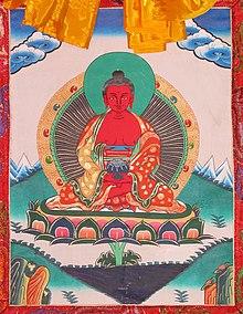 Peinture traditionnelle sur Thangka.