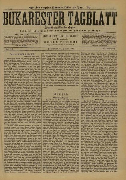 File:Bukarester Tagblatt 1895-08-31, nr. 196.pdf