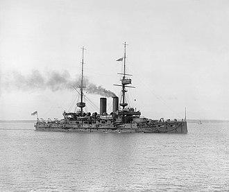 HMS Bulwark (1899) - Bulwark in 1912