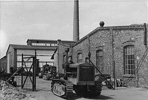 FAMO - Rübezahl diesel caterpillar tractor in 1948