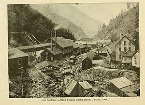 Burke, Idaho - Image: Burke Idaho 1890