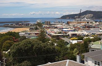 Burnie, Tasmania - A view of Burnie CBD and port