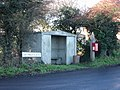 Bus shelter and post box on Northbourne road. - geograph.org.uk - 304354.jpg