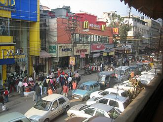 Karol Bagh - Busy market on Ajmal Khan Road, Karol Bagh