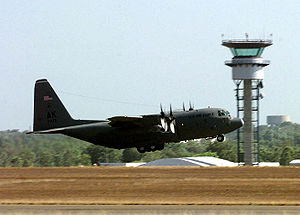 International Force for East Timor - USAF C-130 taking off from Darwin for a mission to East Timor