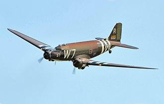 Douglas C-47 Skytrain - A C-47 over Duxford D-Day Show 2014