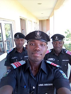 Police academy training institution for new police recruits