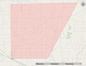 CFB Suffield - Image: CFB Suffield map