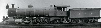 South African Class 4 4-8-2 - Image: CGR Mountain no. 850