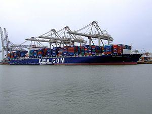 CMA CGM Don Carlos 9305491, at the Amazone harbour, Port of Rotterdam, Holland 04-Mar-2007.jpg