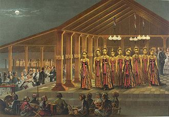 Bedhaya - The court of the Sultan of Yogyakarta, c. 1876