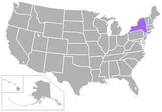 City University of New York Athletic Conference - Image: CUNYAC USA states