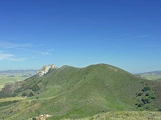 Cerro Cabrillo - A picture of Cerro Cabrillo from Black Hill. A portion of Hollister Peak can be seen.