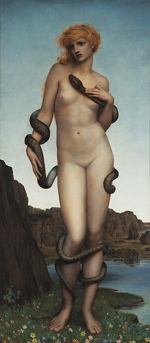Harmonia (mythology) - Harmonia and the serpent