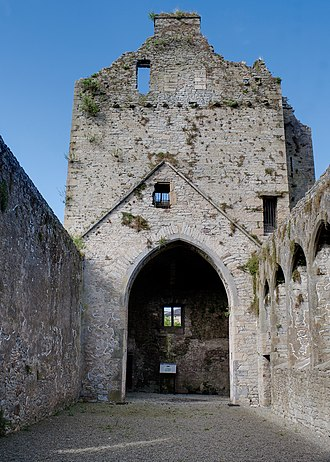 Cahir Abbey - Image: Cahir Priory of St. Mary Choir and Tower 2012 09 05