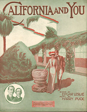 1914 in music - Image: California and You 1914 (Sheetmusic 00016)