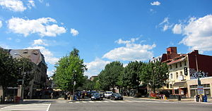 Woodley Park, Washington, D.C. - Intersection of Calvert Street and Connecticut Avenue in Woodley Park