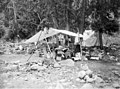 Campsite with tent and supplies on Railroad Creek, September 1915 (LL 1257).jpg
