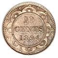 Canada Newfoundland Victoria 10 Cents 1894 (rev).jpg
